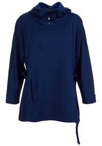 SUPER.NATURAL Comfort Jumper - Kapuzenpullover für Damen - Blau
