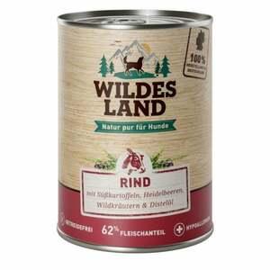 Wildes Land Nr. 5 Rind mit Süßkartoffeln, Heidelbeeren, 8.48 EUR/1 kg