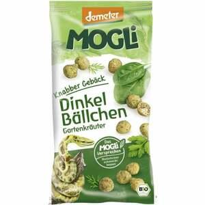 MOGLi Bio Knabber Gebäck Dinkel Bällchen Gartenkräuter 2.98 EUR/100 g
