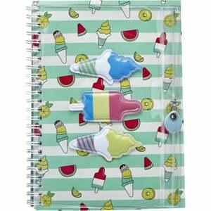 IDEENWELT Notizbuch mit Tasche, mint