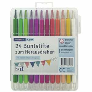 IDEENWELT 24 Buntstifte zum Herausdrehen
