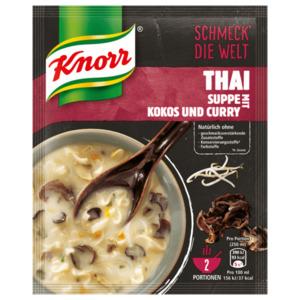 Knorr Schmeck' die Welt Thai Suppe mit Kokos und Curry 2 Teller