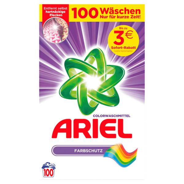 Ariel Colorwaschmittel Pulver 6,5kg, 100WL