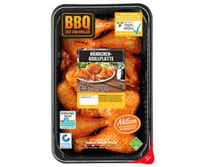 BBQ Hähnchen-Grillplatte