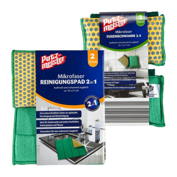 PUTZMEISTER     Reinigungspads 2in1 / Fugenschwämme 3in1