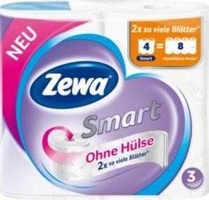 Zewa Smart 3lg ohne Hülse 4x300 Blatt