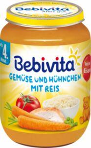 Bebivita Menü Gemüse und Hühnchen mit Reis ab dem 4. Monat 190 g