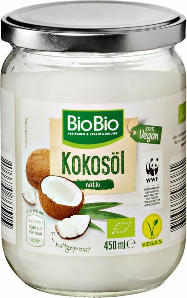 BioBio Kokosöl nativ 450 ml