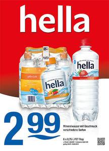 Hella Mineralwasser mit Geschmack verschiedene Sorten