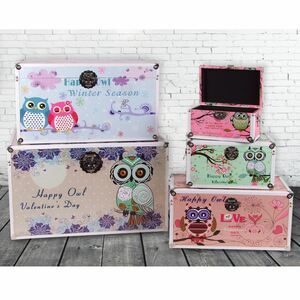 Happy Owl Truhen 5er-Set