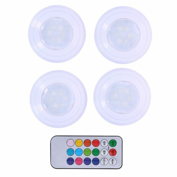 Grundig LED-Lampen selbstklebend mit Farbwechsler 4er-Set