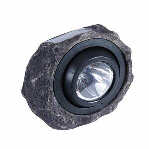 LED-Solar-Gartenleuchte Granitstein 19x16x13cm