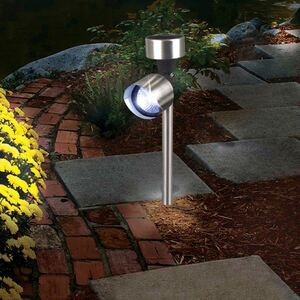 LED-Solarlampe Spotlight 5,5x37cm Kaltweiß