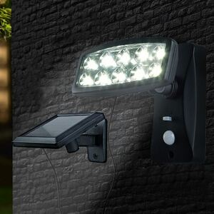 LED-Solarstrahler mit Bewegungsmelder Kaltweiß