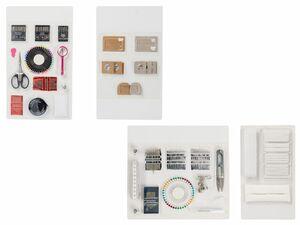 CRELANDO® Nähmaschinenzubehör / Bänder / Handnäh-Set / Textilveredelungsset