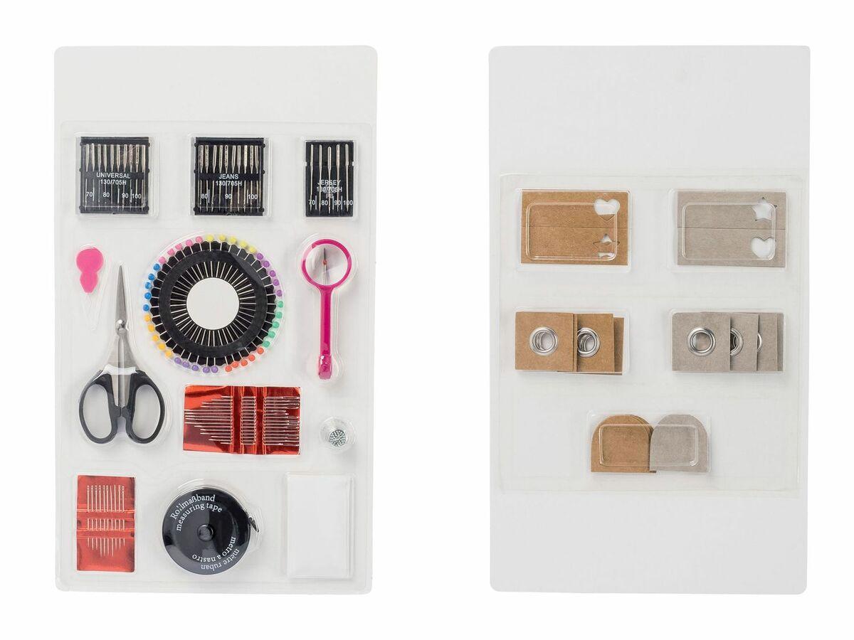 Bild 2 von CRELANDO® Nähmaschinenzubehör / Bänder / Handnäh-Set / Textilveredelungsset