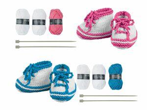 CRELANDO® Babyschuhe-Strickset
