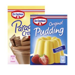 Dr. Oetker Pudding Pulver oder Paradies Creme