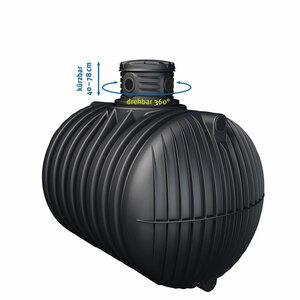 4rain              PROMO Erdtank 4000 L inkl. Schachtverlängerung mit Tankabdeckung