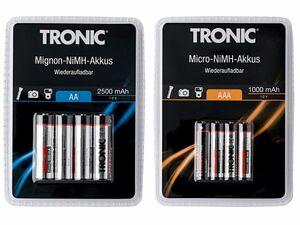 TRONIC® 4 NiMH-Akkus