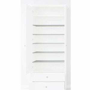5er Set Einlegeböden - weiß - für Garderobenschrank 1241001400