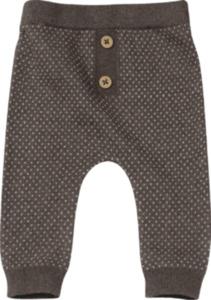 ALANA Baby-Hose, Gr. 68, in Bio-Baumwolle und Schurwolle, braun, weiß, für Mädchen und Jungen