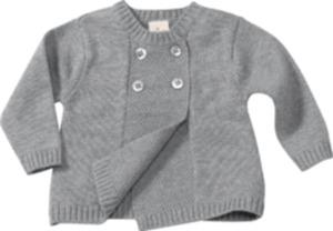 ALANA Baby-Jacke, Gr. 74, in Bio-Baumwolle und Schurwolle, grau, für Mädchen und Jungen