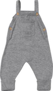 ALANA Baby-Latzhose, Gr. 62, in Bio-Baumwolle, grau, für Mädchen und Jungen