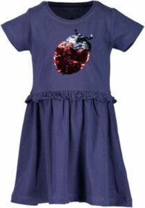 Kinder Jerseykleid mit Wendepailletten blau Gr. 92 Mädchen Kleinkinder