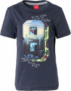 T-Shirt dunkelblau Gr. 116/122 Jungen Kinder