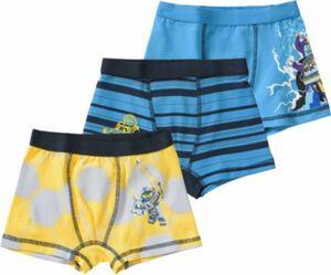 Boxershorts NEXO KNIGHTS im 3er-Pack blau/gelb Gr. 140 Jungen Kinder