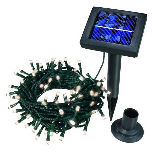 Solar LED Lichterkette 100-teilig, verschiedene Farben Esotec
