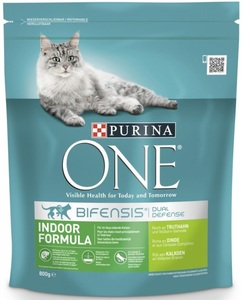 Purina One Cat Indoor Formula Truthahn & Vollkorgetreide 800 g
