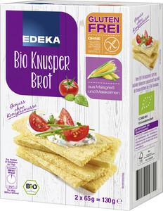 EDEKA Bio Knusper Brot glutenfrei 2x 65 g