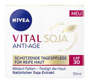Nivea Vital Soja Anti-Age Schützende Tagespflege für reife Haut LSF 30 50 ml