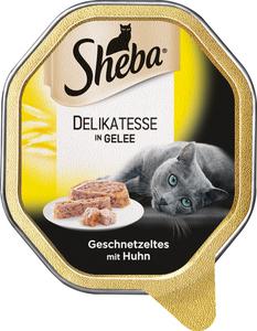 Sheba Delikatesse in Gelee Geschnetzeltes mit Huhn Katzenfutter nass 85 g