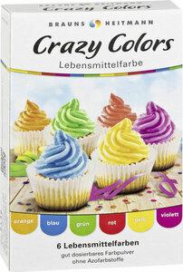 Brauns Heitmann Crazy Colors 6 Lebensmittelfarben 6 Beutel à 4 g