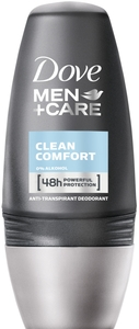 Dove Men + Care Deodorant Roll-On Clean Comfort 50 ml