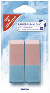EDEKA Radiergummi Duo 2 Stk