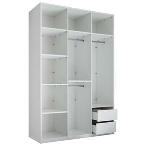 Carryhome KLEIDERSCHRANKKORPUS 151/230/60 cm, Weiß