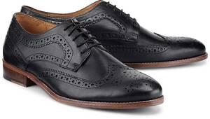 Business-Schnürschuh von COX in schwarz für Herren. Gr. 42,43