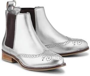 Chelsea-Boots von COX in silber für Damen. Gr. 37,38,39