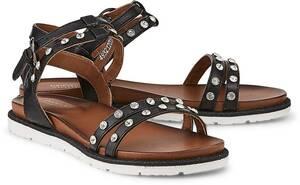 Sommer-Sandale von Drievholt in schwarz für Damen. Gr. 36,38,39,40