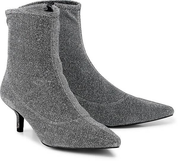 Trend-Stiefelette von Another A in silber für Damen. Gr. 37,38,39,40