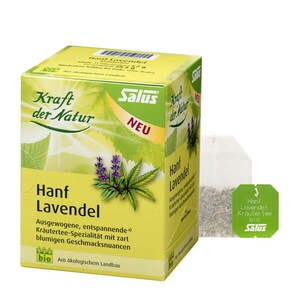 Salus Bio Kraft der Natur Hanf Lavendel  15 Filterbeutel