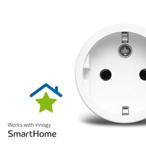 MEDION Smart Home Sparpaket - 4 x Zwischenstecker P85702, schaltet elektrische Geräte, misst Stromverbrauch, Zeitschaltung oder manuelle Schaltung