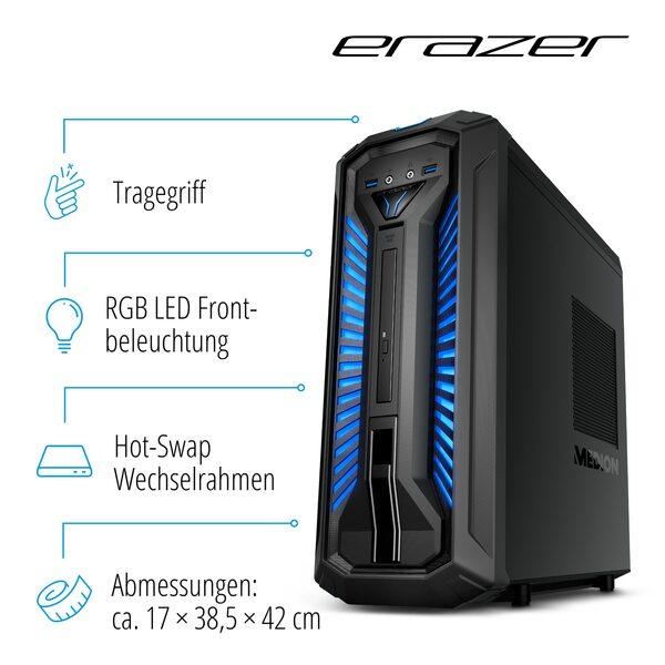 MEDION ERAZER® P66065, Intel® Core™ i5-9400, Windows10Home, GTX 1660 Ti, 512 GB PCIe SSD, 1 TB HDD, 16 GB DDR4 RAM, Gaming PC