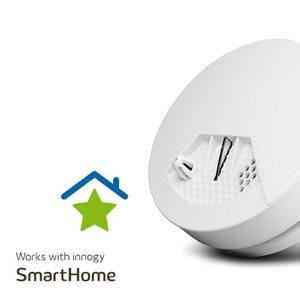 MEDION Smart Home Rauchmelder P85706, nimmt Rauch wahr, als Sirene einsetzbar