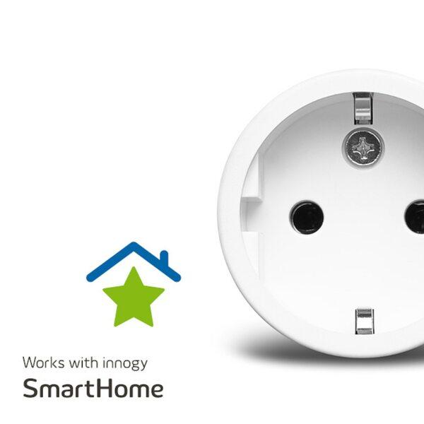 MEDION Smart Home Zwischenstecker P85702, schaltet elektrische Geräte, misst Stromverbrauch, Zeitschaltung oder manuelle Schaltung