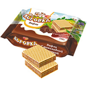"""Waffelschnitte """"Korovka"""" mit kakaohaltiger Cremefüllung"""